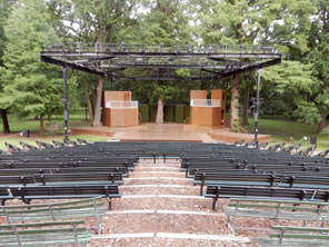 Photo of the Kentucky Shakespeare Festival stage