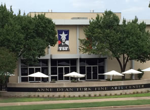 Photo of Arts Center with Texas Shakespeare Festival banner