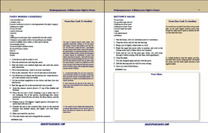 Two pages of menu PDF