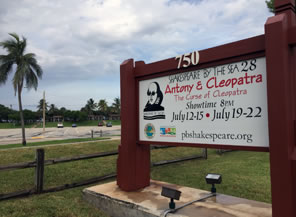 Photo of Palm Beach Shakespeare Festival sign