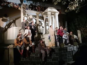 Photo of cast on stage