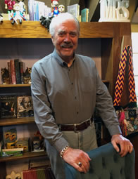 Photo of Daryl Woodson in the Upstart Crow bookstore