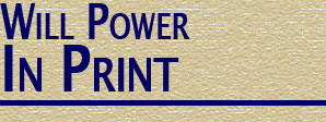 Will Power: In Print